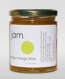 tangy mango and lime jam